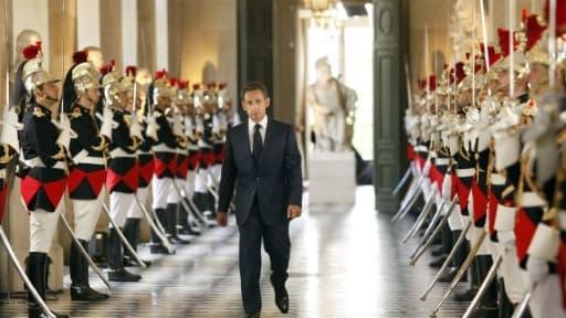 Nicolas Sarkozy à son arrivée au Parlement réuni en Congrès le 22 juin 2009 à Versailles