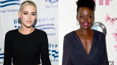 """Kristen Stewart (à droite) et Lupita Nyong'o (à gauche) pourraient rejoindre le casting du reboot  de """"Charlie's Angels"""""""