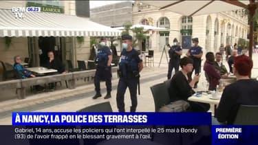 À Nancy, la police vérifie que les consignes sanitaires sont bien respectées en terrasse