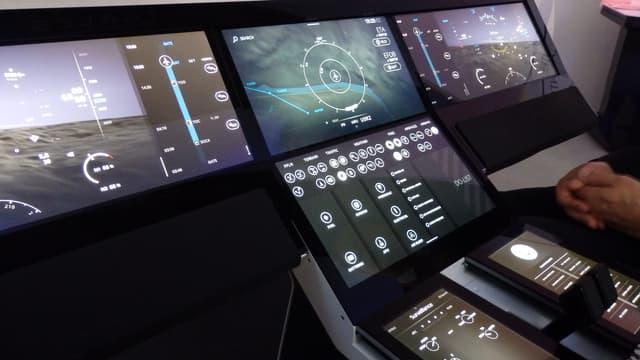 Le système Avionics 2020, présenté au Bourget 2015 par Thales.