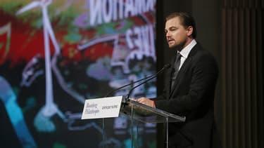 L'acteur américain Leonardo di Caprio à Paris, pour la Cop21