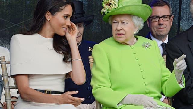 Meghan Markle et la reine Elizabeth II à Halton, le 14 juin 2018