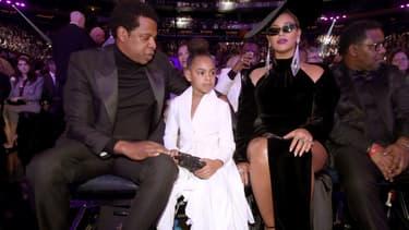 Blue Ivy entourée de ses parents, Jay Z et Beyoncé