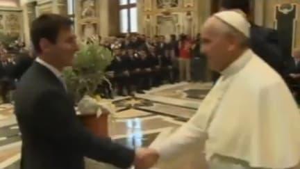 Messi rencontre le Pape