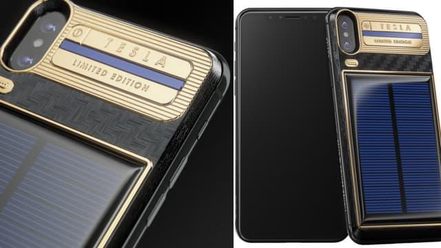 Un Russe a imaginé un iPhone X Tesla