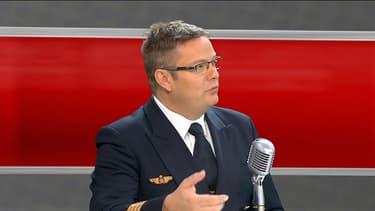 Le président du Syndicat national des pilotes de ligne, Eric Derivry, sur BFMTV, le 27 mars.