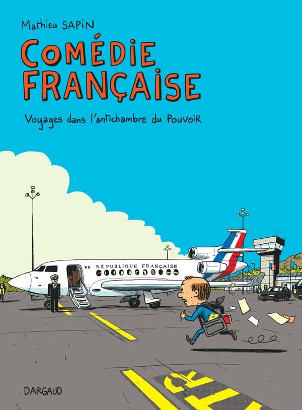 """Couverture de """"Comédie française"""", nouvelle bande dessinée de Mathieu Sapin"""