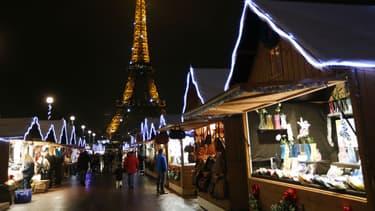 Marché de noël à Paris.