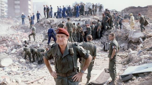 Attentat contre l'armée français, immeuble du Drakkar - 1983