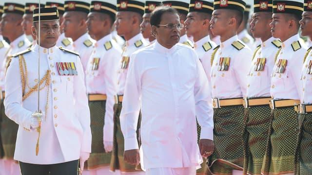 Le président sri-lankais, lors d'une cérémonie en Malaisie, le 16 décembre dernier.