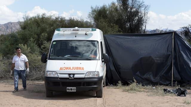 Sur les lieux du crash d'hélicoptères, le 10 mars 2015