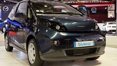 La Blue Car de Bolloré au Salon international de l'Automobile de Paris en 2012.
