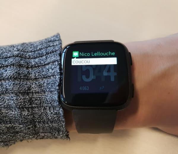 La Fitbit permet d'afficher les notifications.