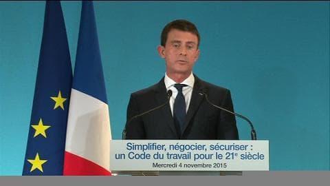 """Code du travail: Valls estime que """"réformer c'est le choix de l'invention et du courage"""""""