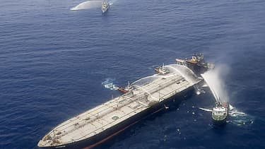 Le tanker New Diamond au large du Sri Lanka, le 6 septembre 2020.