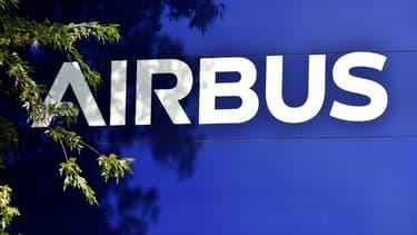 Logo d'Airbus au siège de Blagnac, le 30 juin 2020