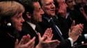 Angela Merkel et Nicolas Sarkozy réunis à Marseille au congrès du Parti populaire européen. La chancelière allemande et le président français ont tour à tous mis la pression sur leurs partenaires européens jeudi, avant l'ouverture du sommet à 27 où seront