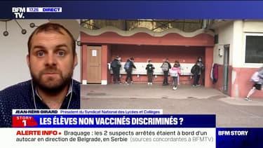 """Jean-Rémi Girard, président du SNALC: """"On ne sait pas qui va disposer de la connaissance du statut vaccinal des élèves"""""""
