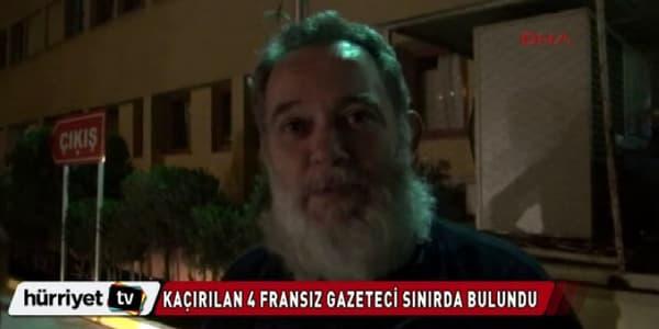 Didier François, l'un des quatre ex-otages français en Syrie, prononce ses premiers mots d'homme libre, à la télévision turque.