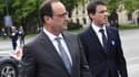 François Hollande et Manuel Valls le 8 mai 2015 lors des commémorations à Paris.