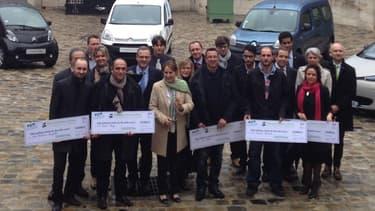 Les premiers bénéficiaires du bonus de 10.000 euros pour échanger sa vieille diesel contre une voiture électrique étaient reçus au ministère du Développement durable ce 2 avril.