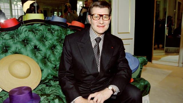 Le créateur Yves Saint Laurent en octobre 1996