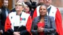 Christiane Taubira lors d'un colloque sur la justice, samedi.