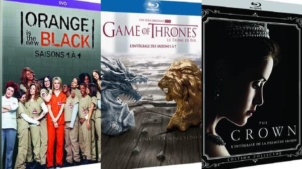"Noël ou l'occasion de rattraper plusieurs séries comme ""Orange is The New Black"", ""Game of thrones"" ou ""The Crown""."