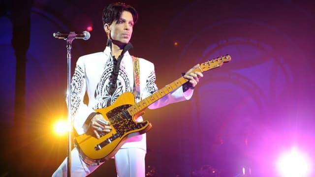 Prince sur scène en 2009